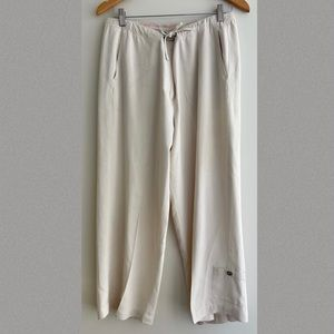 Tommy Bahama Silk Crop Off White Casual Pants